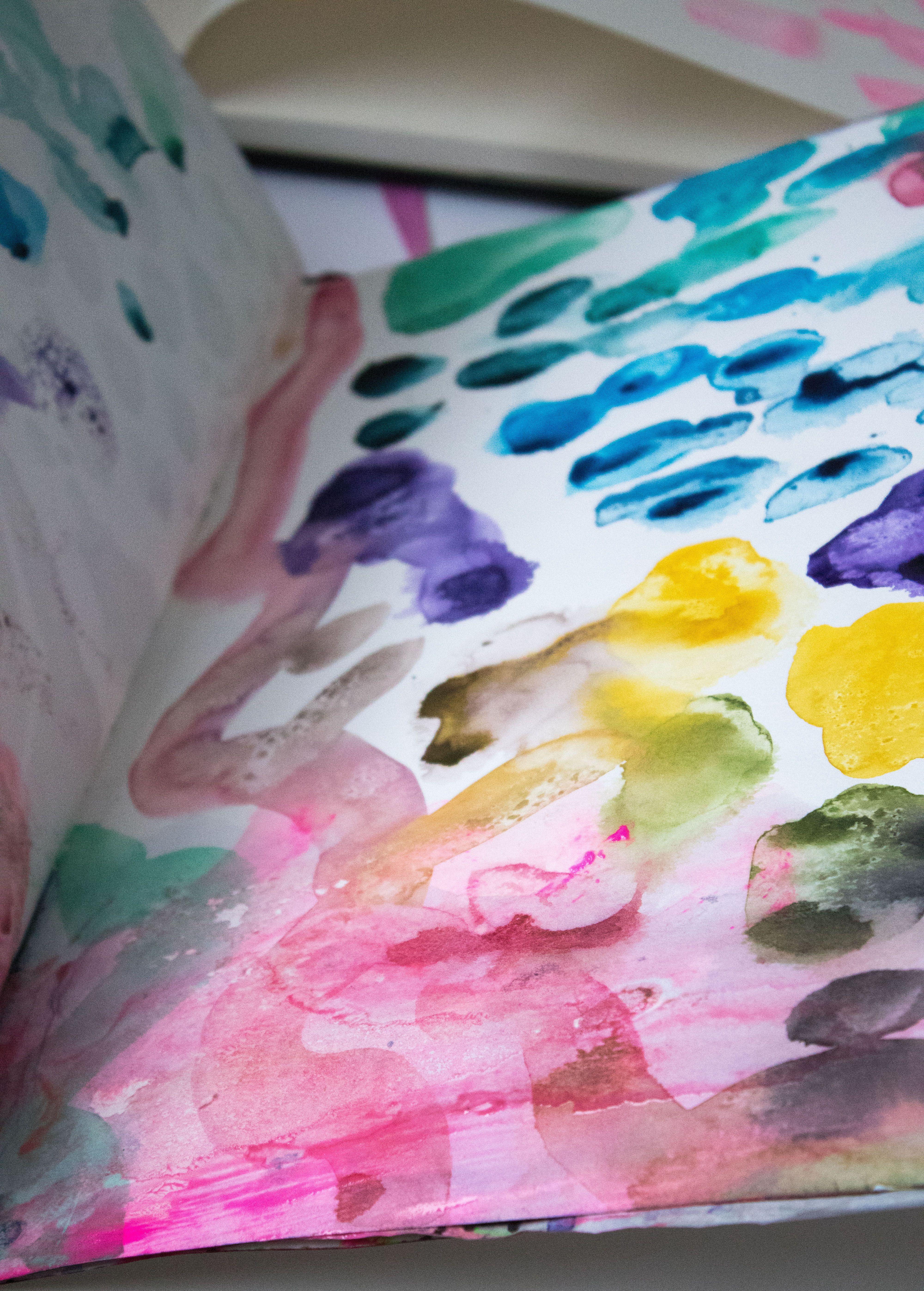 Watercolour Experiments In The Sketchbook Of Artist Helen Wells
