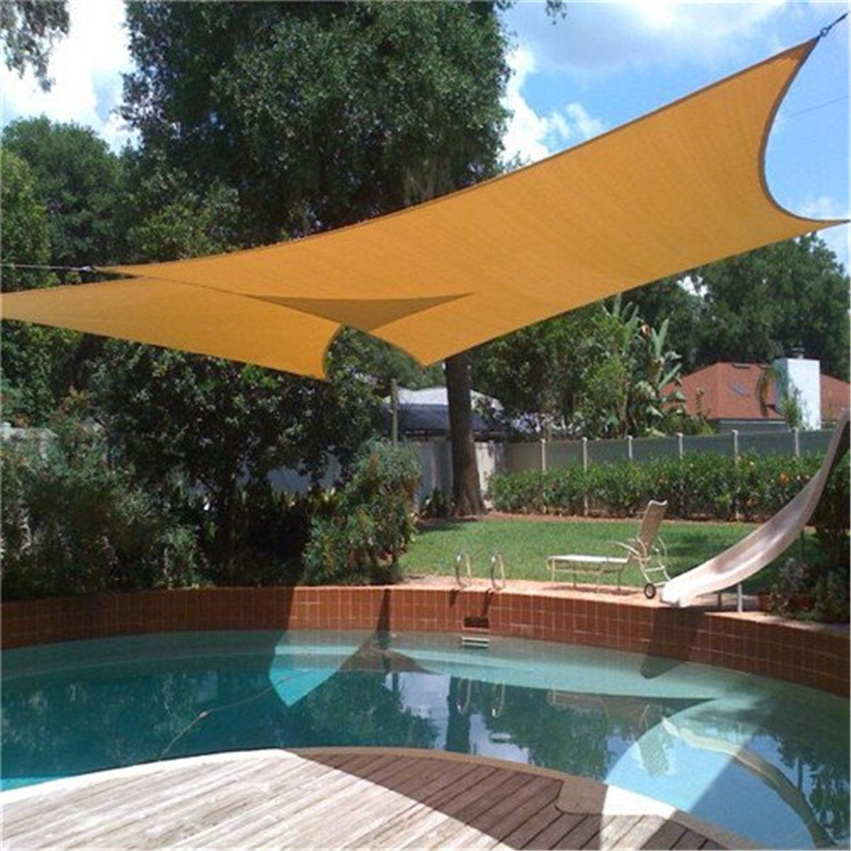 2x1 8m Sun Sailing Shade Mesh Net Garden Plants Covered Awning Waterproof Canopy Anti Uv Sun Shelter Pool Shade Shade Sails Patio Patio Shade