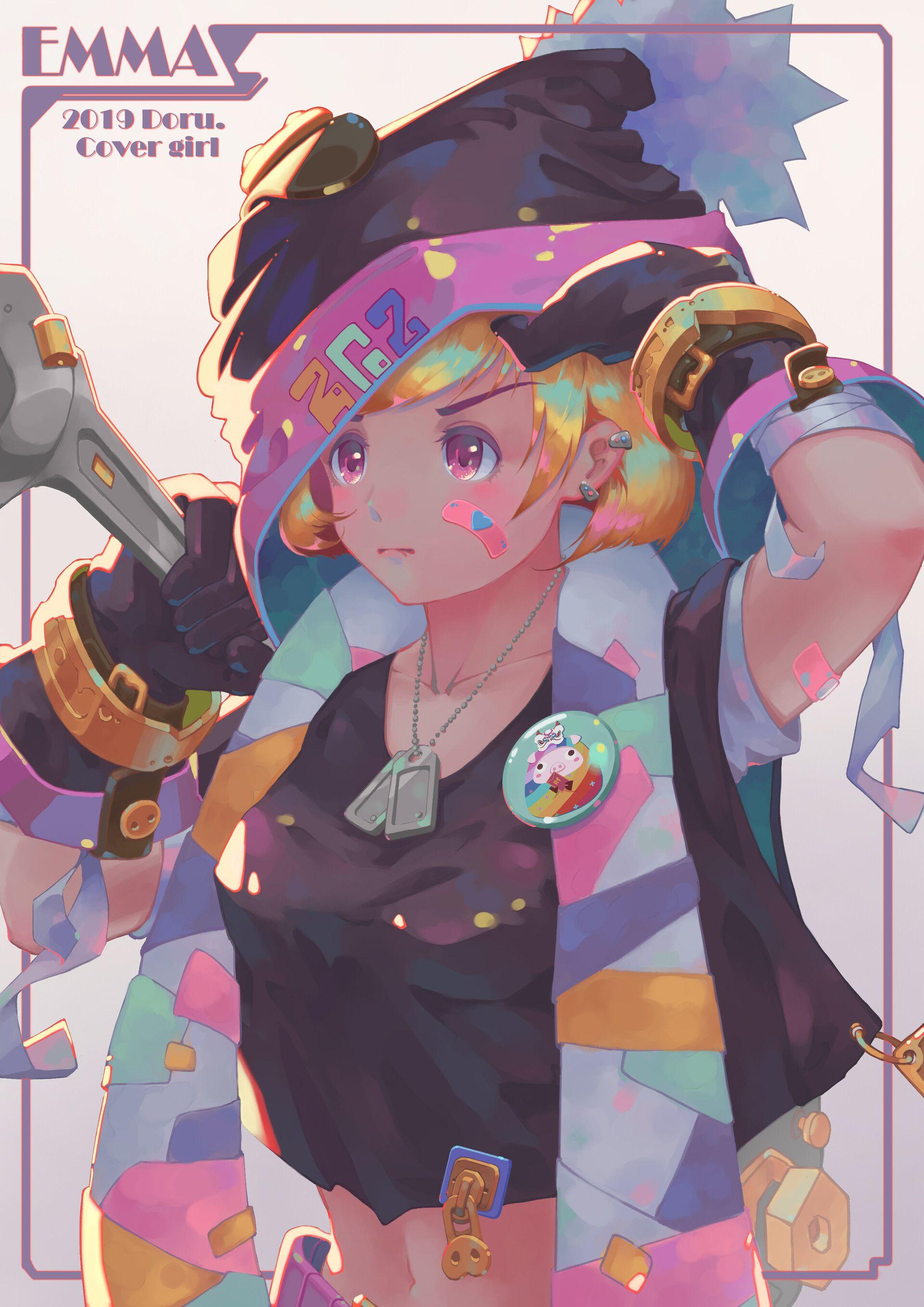 2019豆乳姬 Doru Cover girl EMMA Work Artwork, Anime, Gril