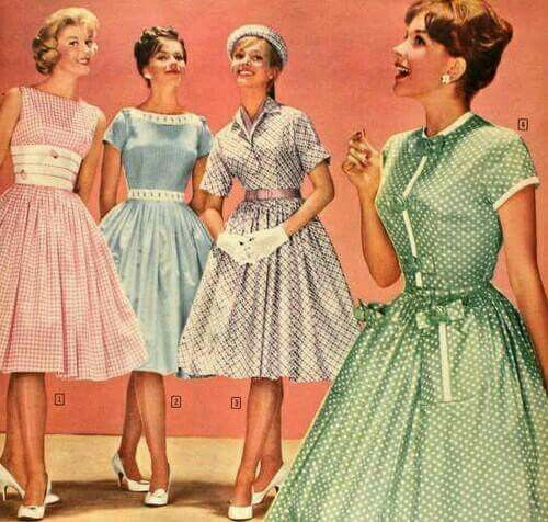 فستاين الستينات Vintage Summer Dresses Vintage Outfits Housewife Dress