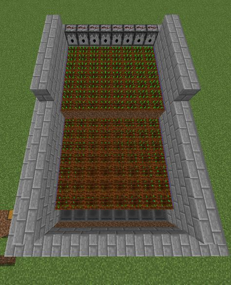 This Semi Automatic Farm Makes Harvesting Crops In Minecraft A Breeze