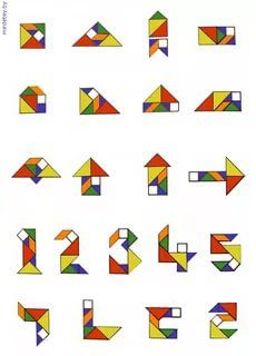 самые простые схемы танграм: 20 тыс изображений найдено в ...