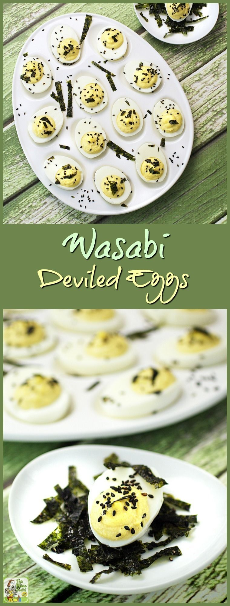 Wasabi Deviled Eggs recipe #deviledeggs