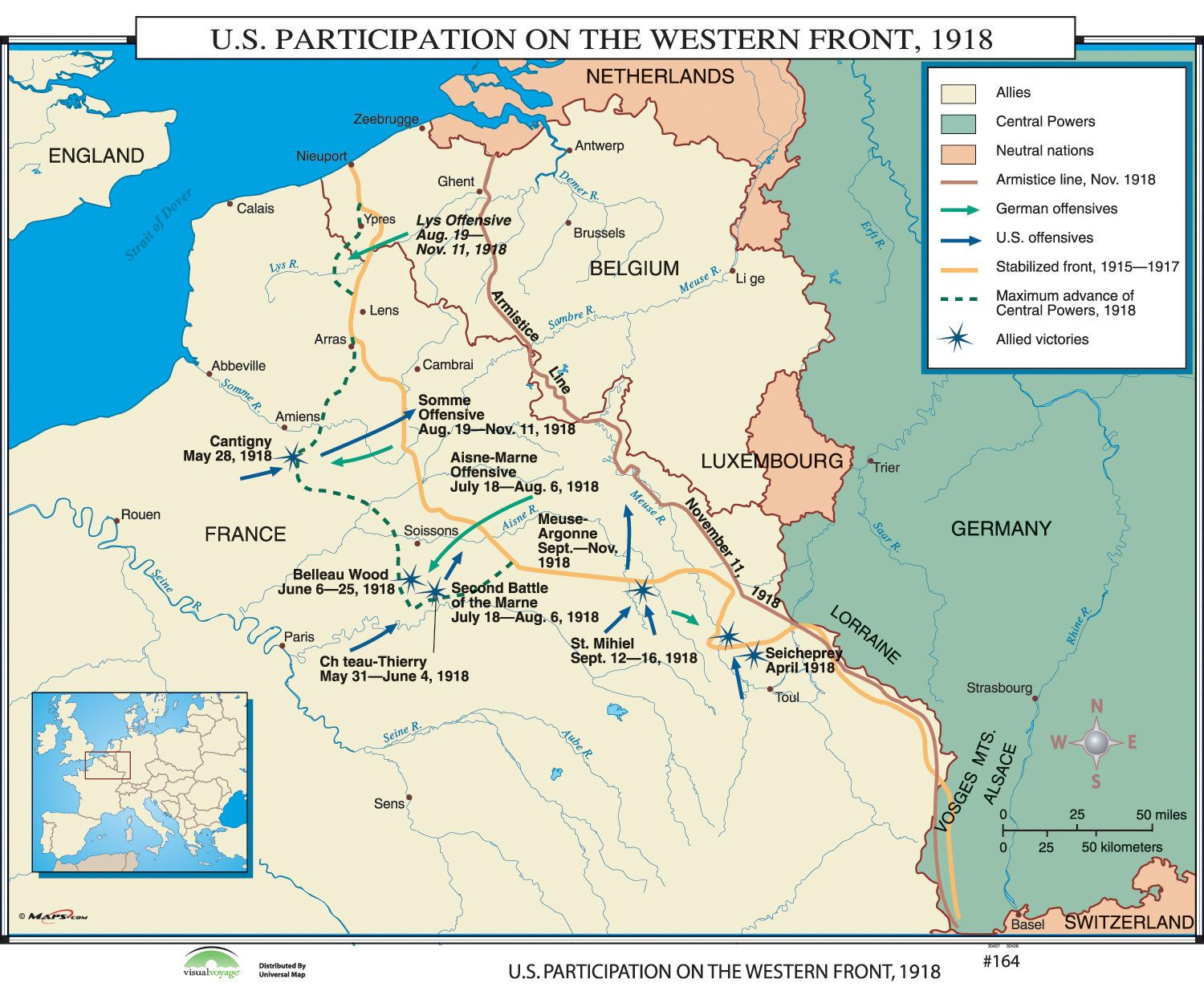 World history wall maps us participation on western front wall world history wall maps us participation on western front gumiabroncs Images
