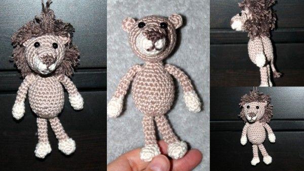 Häkelanleitung Schlüsselanhänger Taschenbaumler Löwe