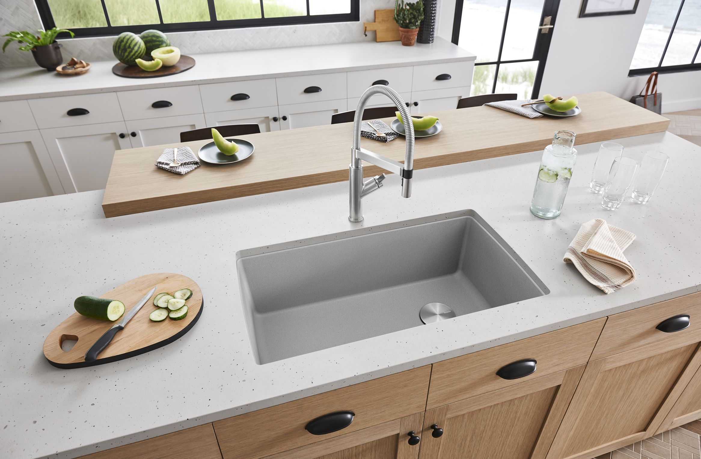 A Kitchen Doesn T Need A Farmhouse Sink To Be Beautiful Blanco S