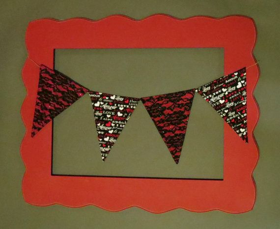 Custom Mix and Match Valentines Day Fabric Flag by ThePartyOrchard, $22.00