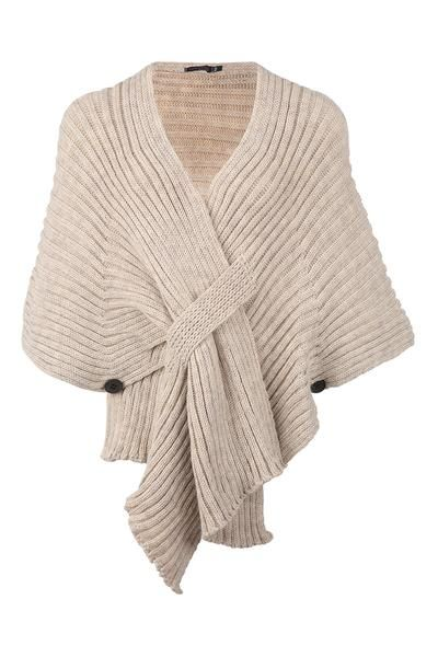 Ribbed Cardigan Wrap