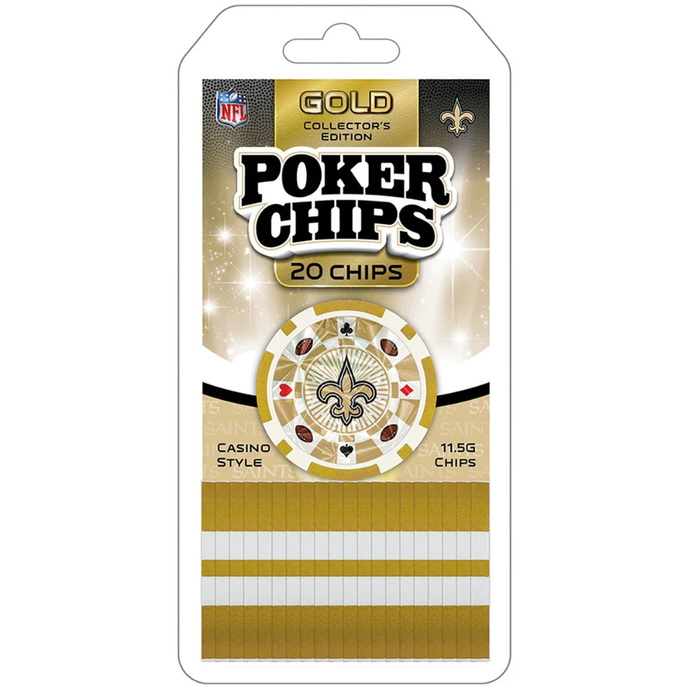 New Orleans Saints Special Edition Gold Poker Chips 20 Chips In 2020 New Orleans Saints Poker Chips New Orleans