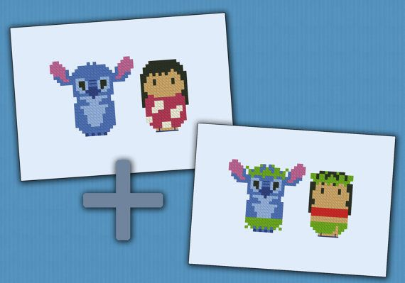Lilo & Stitch parody - Cross stitch PDF patterb