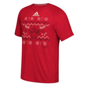 d0f576402f8f Men s Chicago Bulls adidas Red 2016 Christmas Day climalite Ultimate T-Shirt