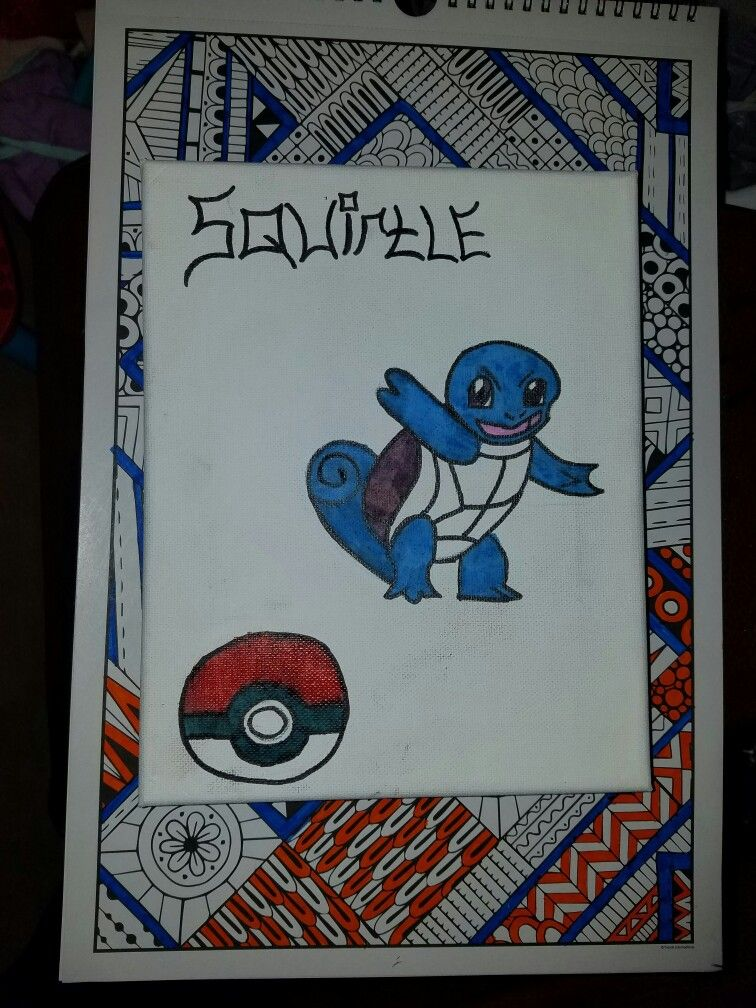 First time drawing a squirtle