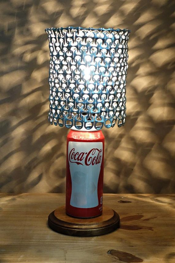 coca cola soda can lamp with pull tab lamp shade heirloom. Black Bedroom Furniture Sets. Home Design Ideas