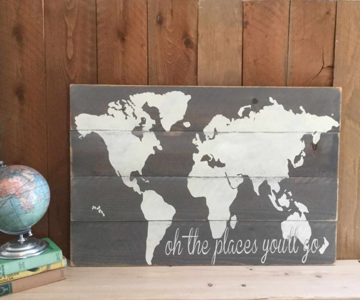 Nursery map map agricshow nursery oh the places you ll go wood world map rustic nursery wall art oh the places gumiabroncs Images