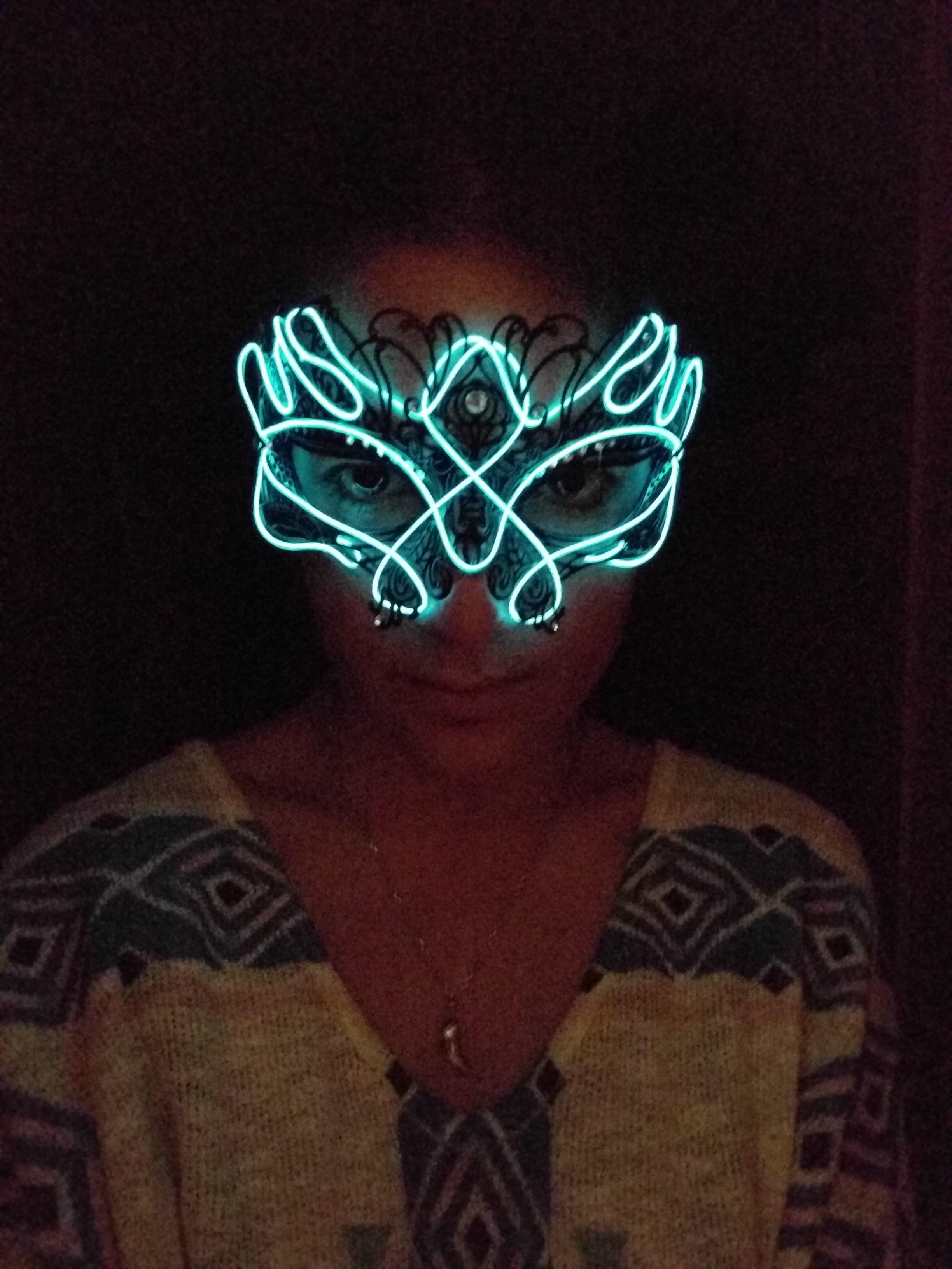 El Wire Burning Man Mask   Steam punk, Masking and Punk