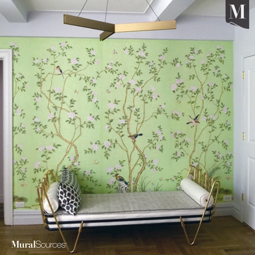 Lantilly Emerald is a bright and beautiful Chinoiserie