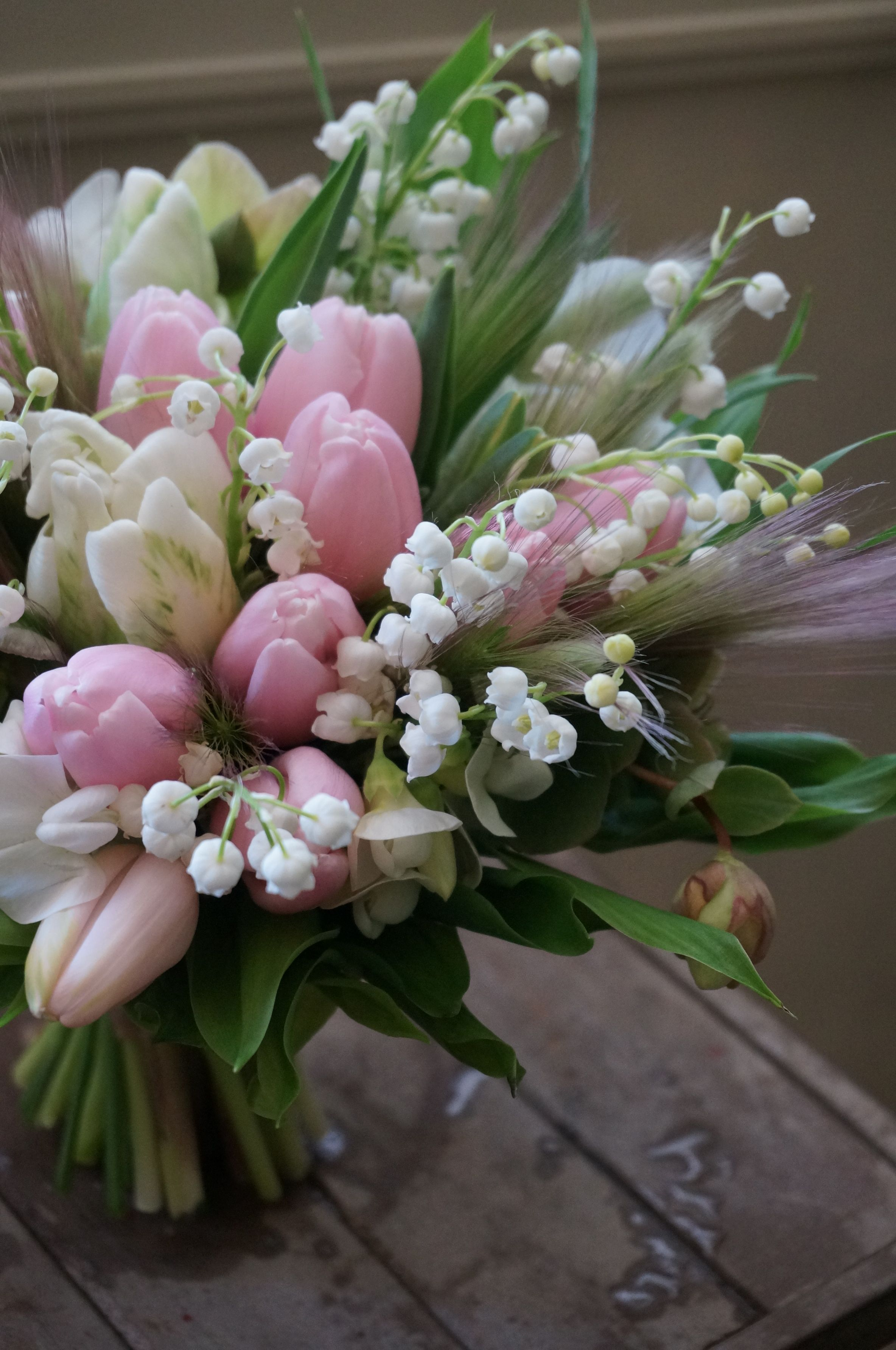 tulip and lily of the valley Tulips arrangement, Spring