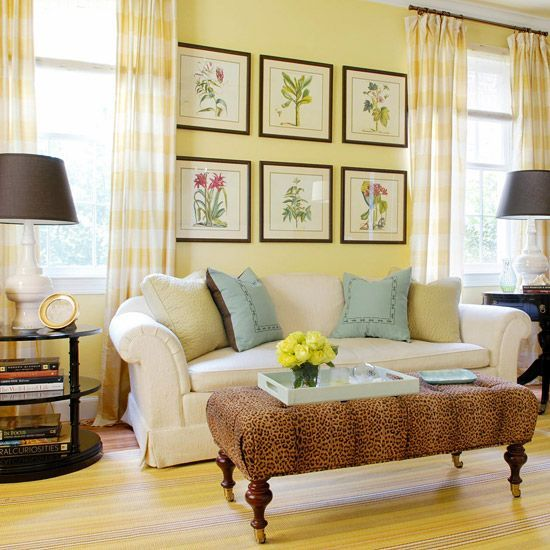 Attirant How To Decorate Your Living Room With Cheery Yellow