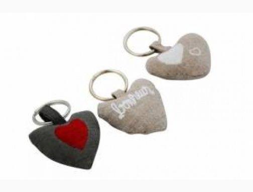 Porte clefs Coeur en tissus