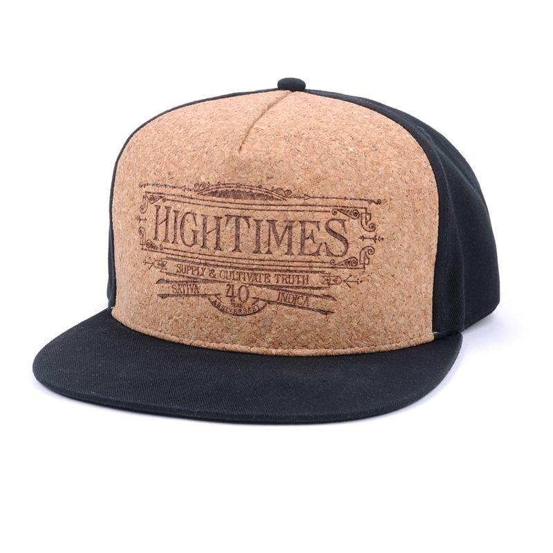 70addcad79d8b0 5 panels snapback hats, embossed logo cork snapback hats, custom wood snapback  hats