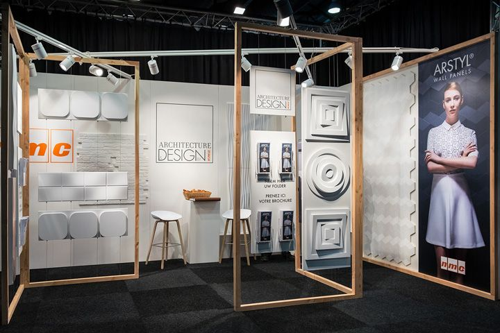 Exhibition Stand Wall Panels : Nmc arstyl wall panels stand by a b project belgium retail