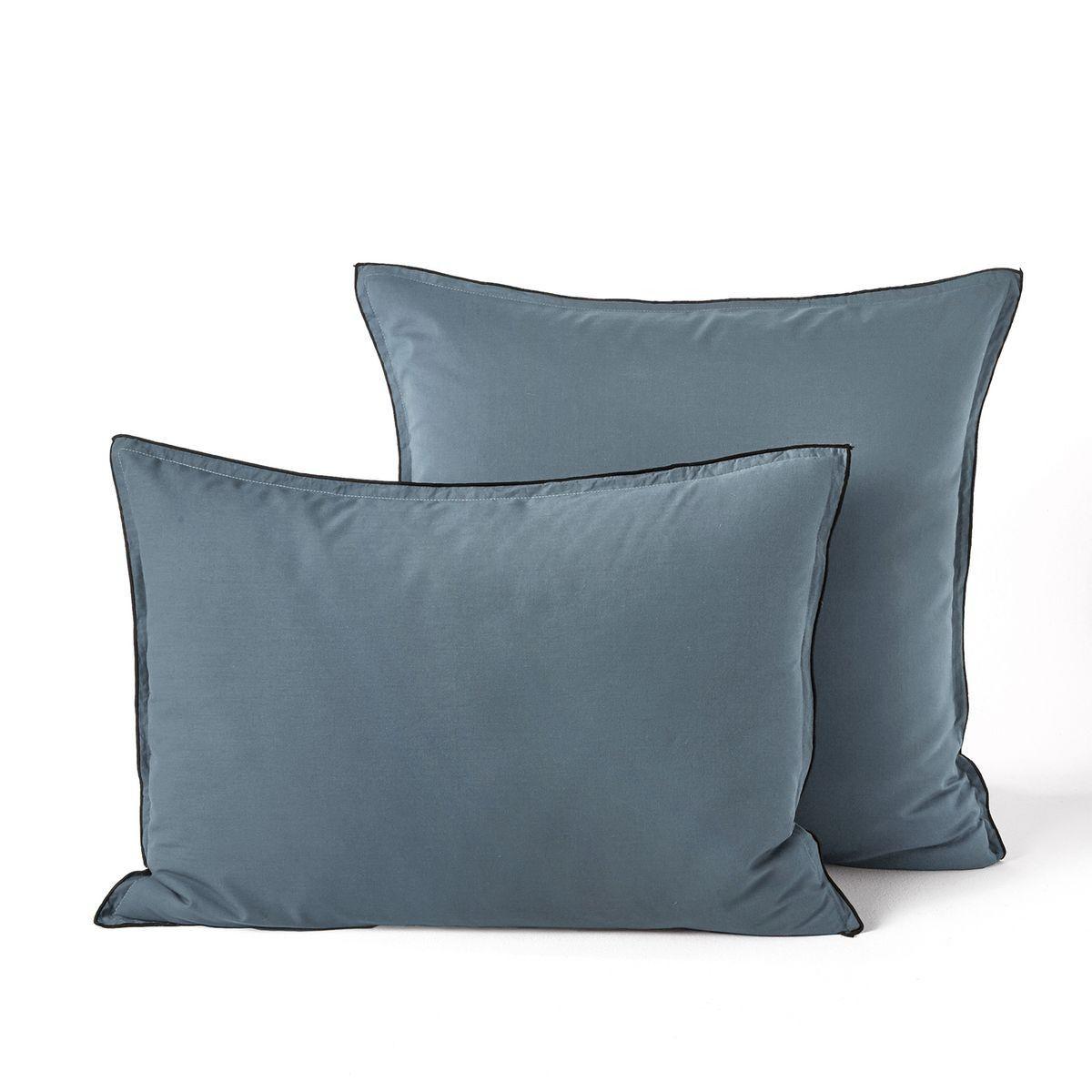 Taie D Oreiller Voile De Coton Lave Gypse Voile De Coton Taie D Oreiller Et Bleu Celadon