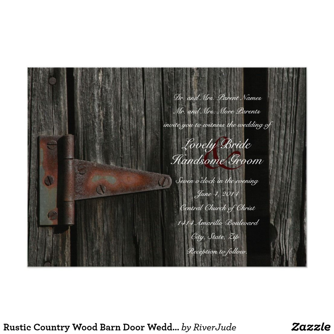 Rustic Country Wood Barn Door Wedding Invitation This Is Perfect For Farm Ranch Western Or Rodeo Weddings: Wedding Invitations Barn Door At Websimilar.org