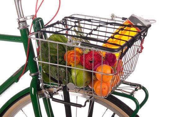 Bicycle Basket Metal Front Lift Off Vintage Carry Away
