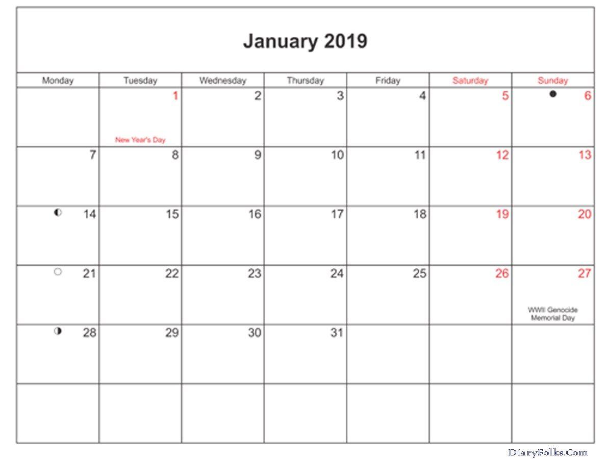 aug 2019 calendar with holidays