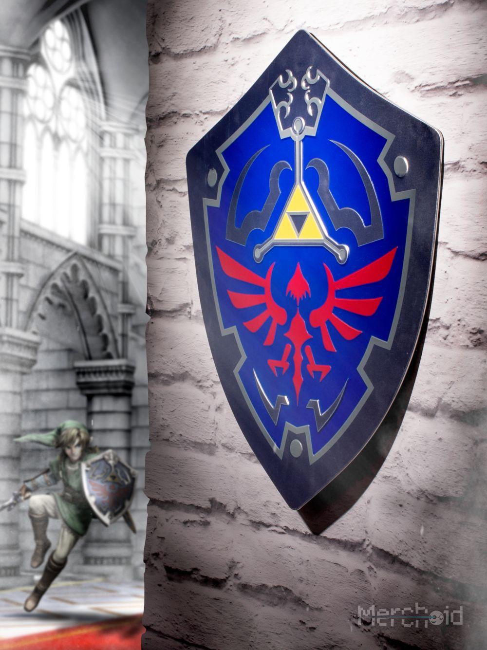 The Legend of Zelda Dark Links Hylian Shield Keychain Keyring Pendant Black