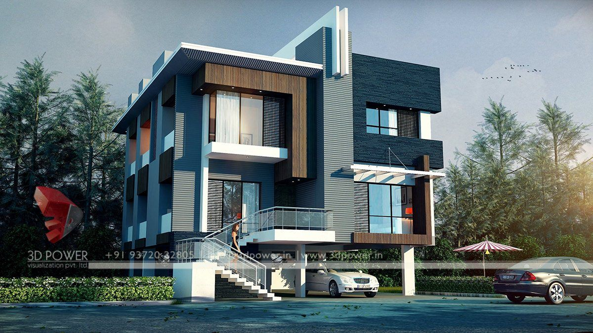 Modern home designs contemporary bungalow sloping lot house plans sloped associated