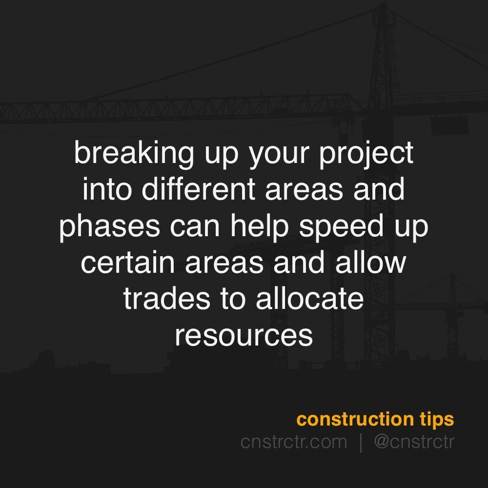 cnstrctrtip breaking up your project into different