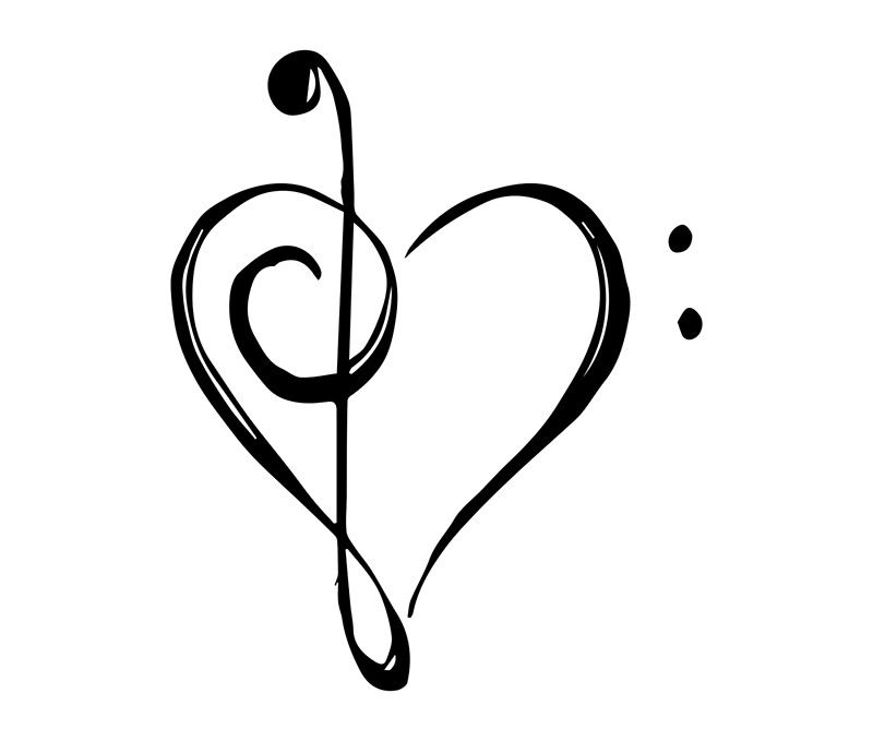 When Treble Clef And Bass Clef Come Together The Ups And Downs Of Music Can Make Your Heart Beat Fas Music Heart Tattoo Music Symbol Tattoo Treble Clef Tattoo