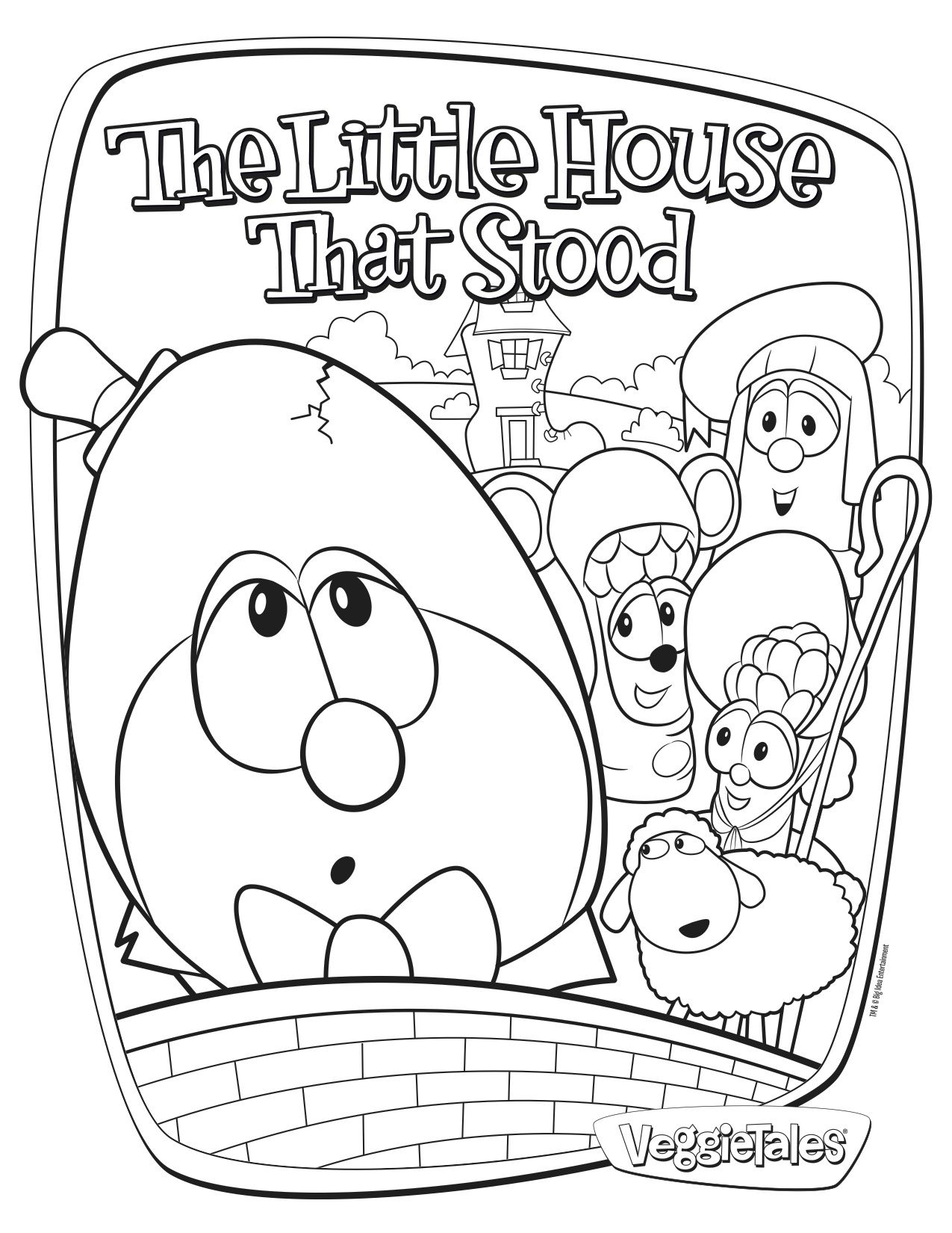 Free coloring page featuring The Little House That Stood! | Crafts ...