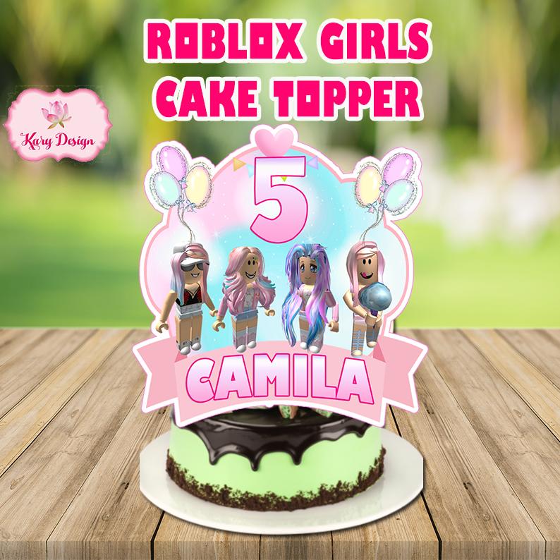 girl cake topper roblox girl Roblox Cake topper