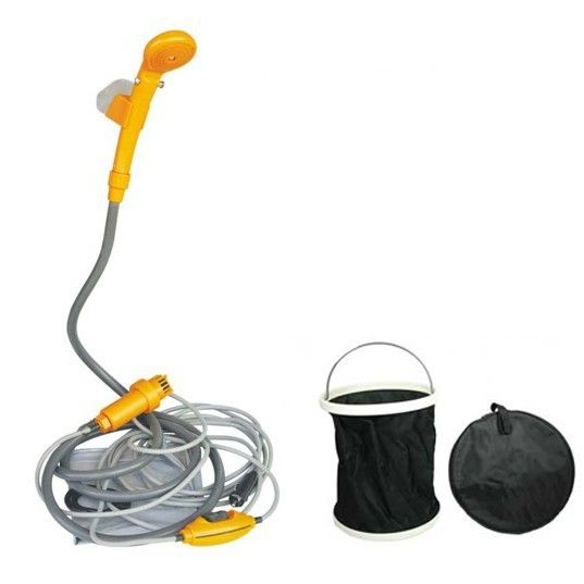 Portable 12V Automobile Camping Water Pump Shower Set with