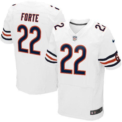 nfl mens game nike nfl chicago bears 22 matt forte white jersey 79.99