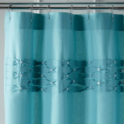 Pintuck Shower Curtain Turquoise Turquoise Shower Curtain