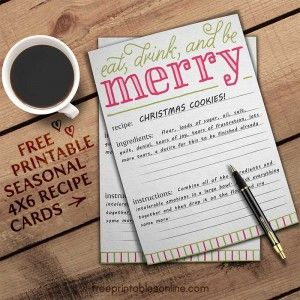 Recipe Card Templates Archives Free Printables Online Recipe Cards Template Recipe Cards Holiday Recipe Card Template