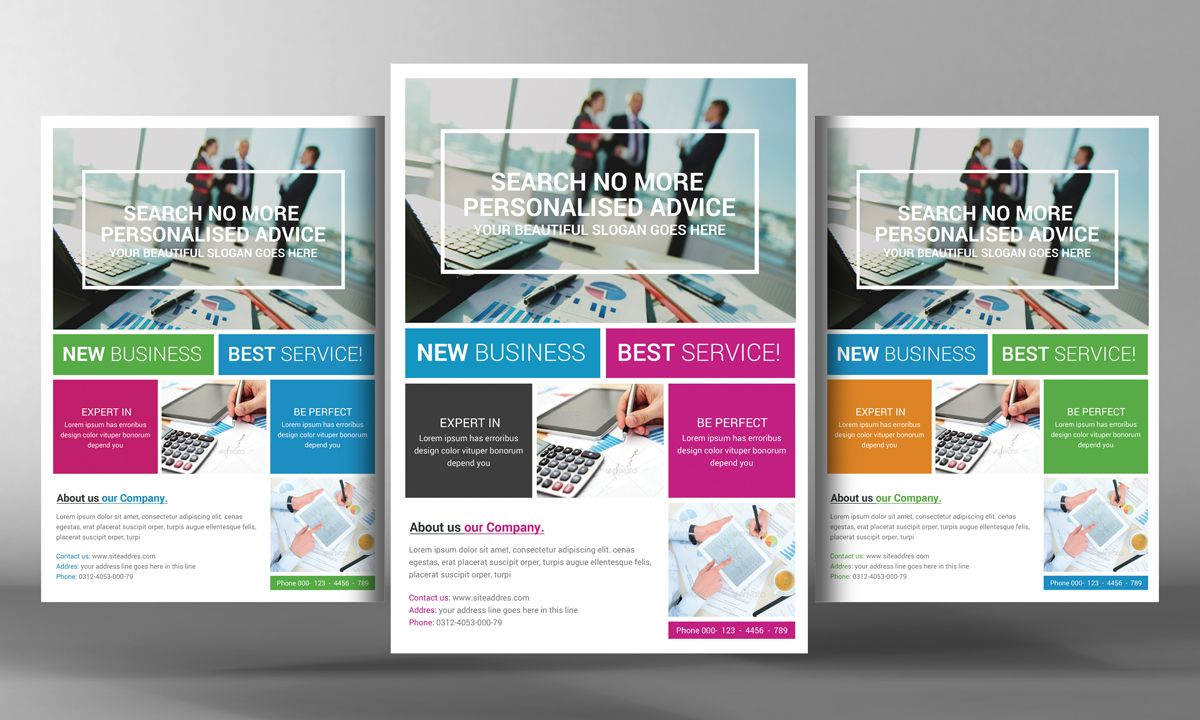 Marketing Flyer Template By Business Templates On Creative Market