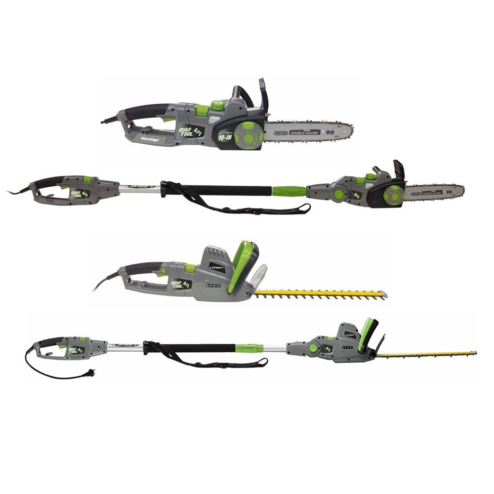 Earthwise CVP41810 4-in-1 Convertible Pole/Hedge Chainsaw