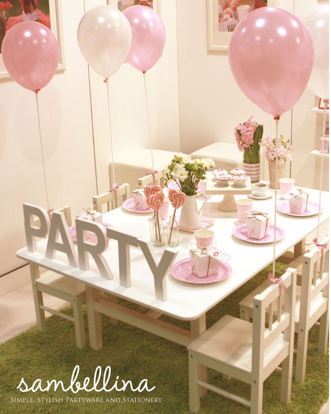 Elegant And Simple At The Same Time Children S Party Ideas Pinterest Tea Parties Birthdays Joint Birthday