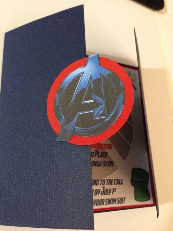 Vengadores invitación fiesta de superhéroes