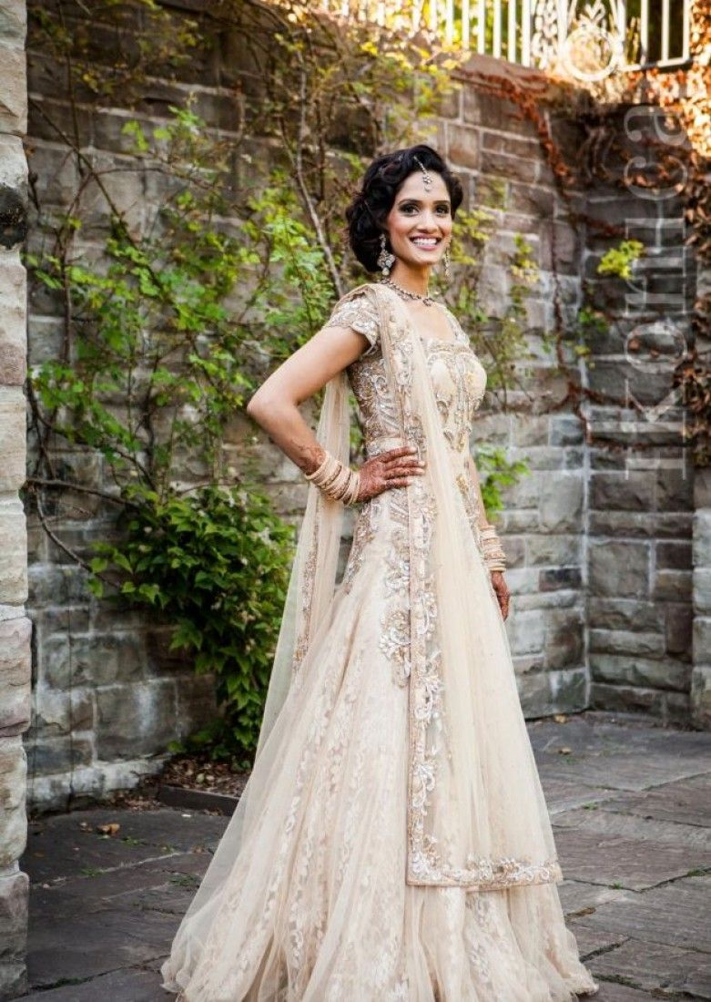 Indian Fusion Wedding Attire.She is a absolought stunner