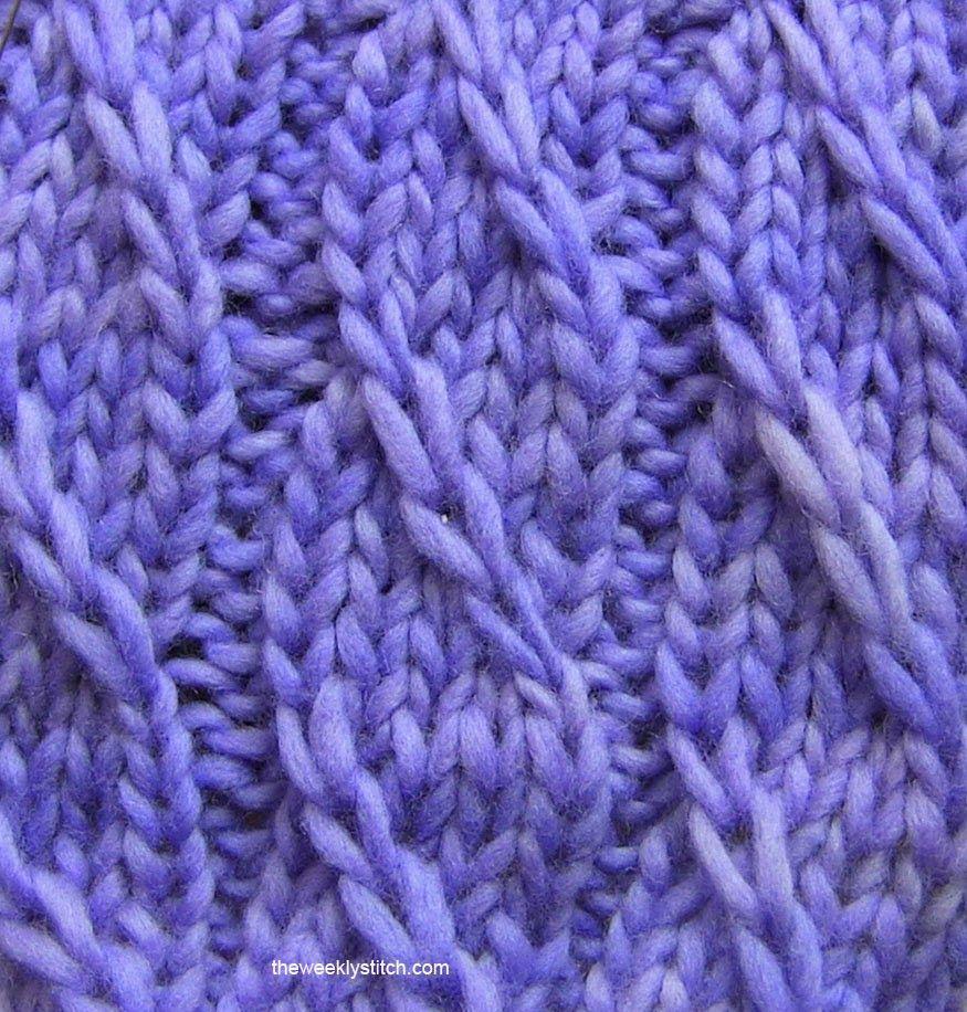 Twilled Stripe Stitch | The Weekly Stitch ...