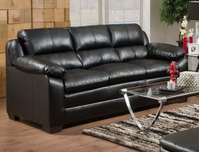 Chaise Sofa Beautiful bonded leather sofa stylish and highly durable With pillow arms for extra fort