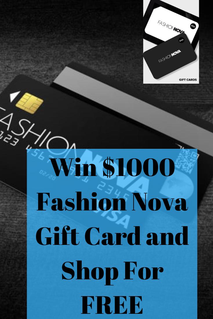 Get a chance to win 1000 Fashion Nova Gift Card.Limited