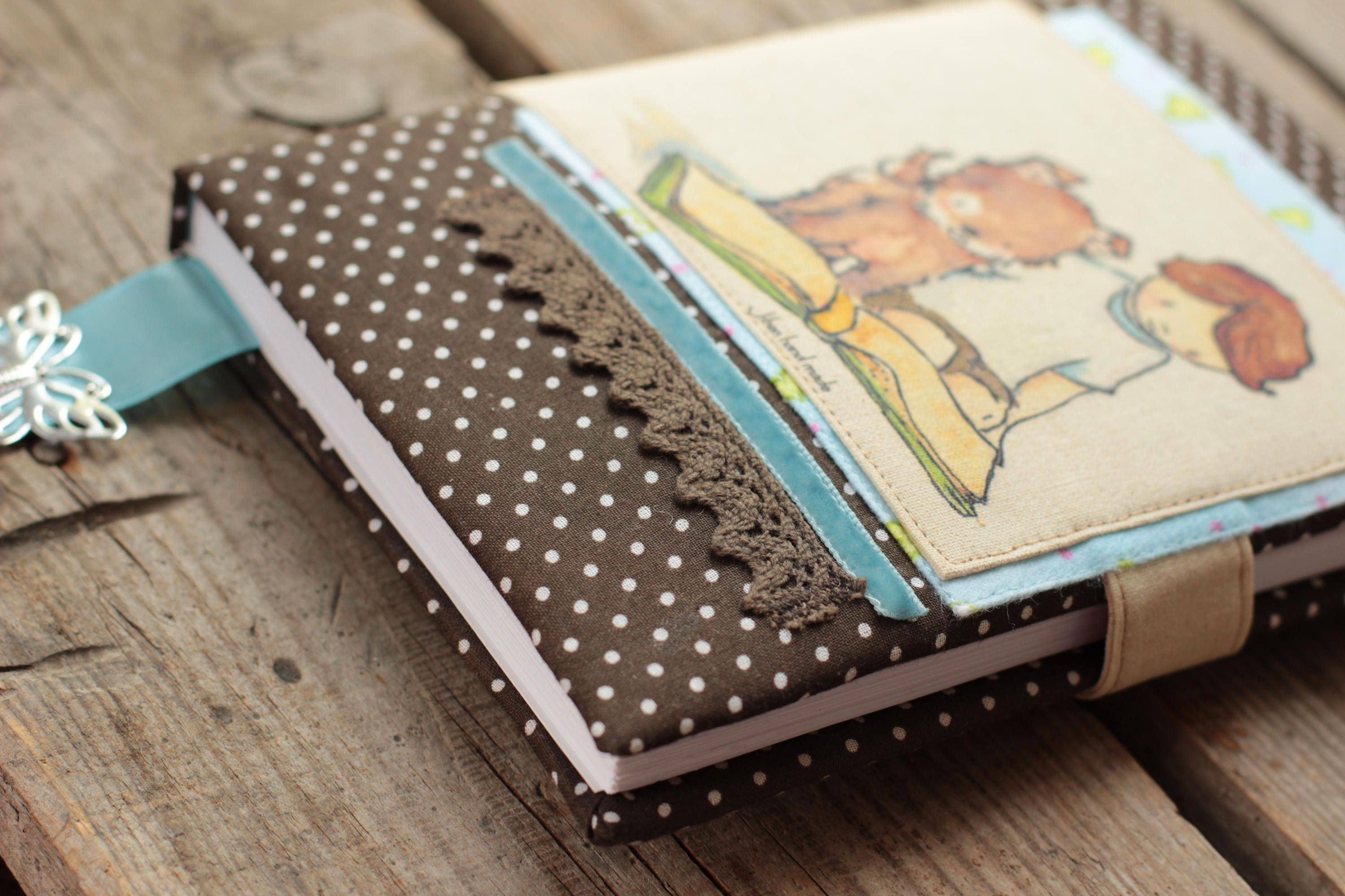 Fabric Book Cover Ideas ~ Notebook ideas cover cotton anniversary gifts paint envelope