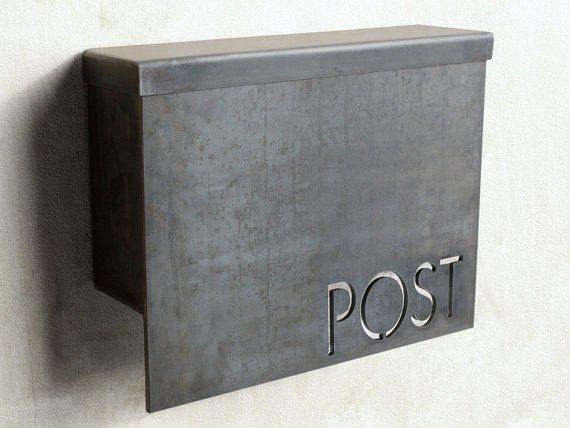 What A Cool Post Box Modern Mailbox Contemporary Mailboxes Steel House