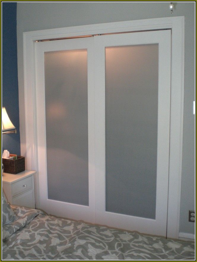 Create a new look for your room with these closet door for Frosted glass sliding doors